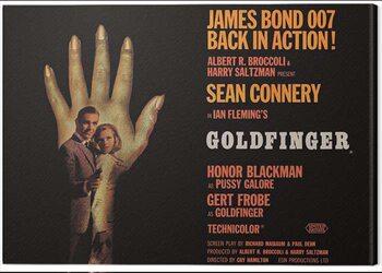 Leinwand Poster James Bond - Goldfinger - Hand