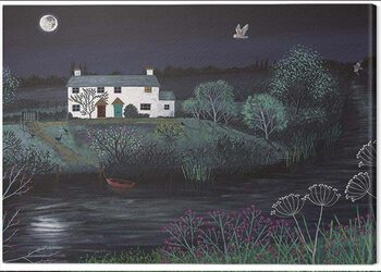 Leinwand Poster Jo Grundy - Moon River