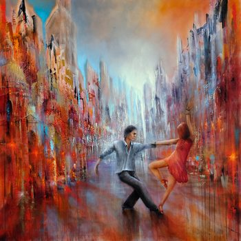 Leinwand Poster Just dance!