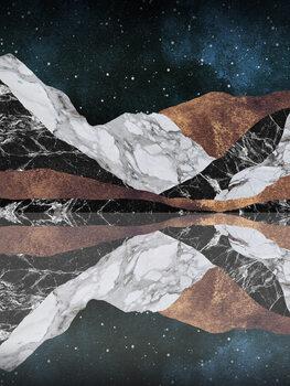 Leinwand Poster Landscape Mountains