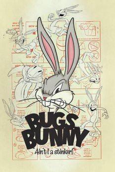 Leinwand Poster Looney Tunes - Bugs Bunny