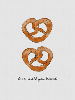 Leinwand Poster Love Is All You Knead