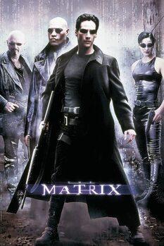 Leinwand Poster Matrix - Hacker