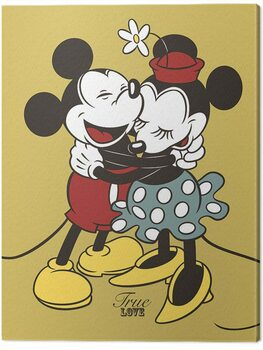 Leinwand Poster Mickey & Minnie Mouse - True Love