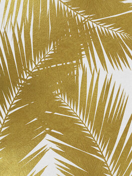Leinwand Poster Palm Leaf Gold III
