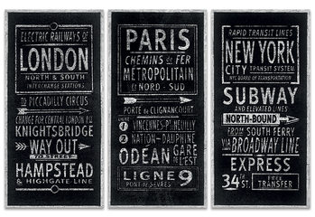 Leinwand Poster Barry Goodman - London Paris New York