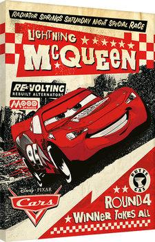 Leinwand Poster Cars - Lightning Mcqueen Race