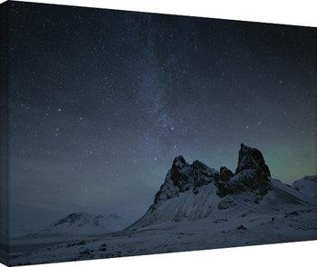 Leinwand Poster David Clapp - Starry Night, Eystrahorn Mountains, Iceland