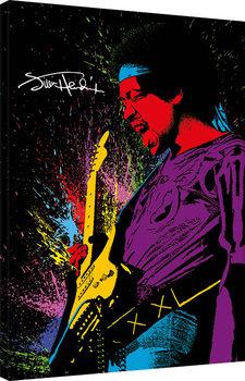 Leinwand Poster Jimi Hendrix - Paint