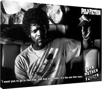 Leinwand Poster Pulp Fiction - Bad Mother F**ker