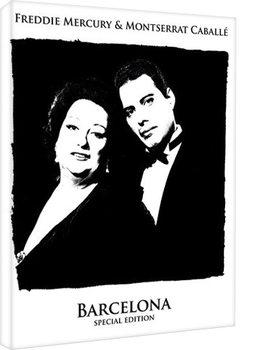 Leinwand Poster Queen - Freddie Mercury & Montserrat Caballe