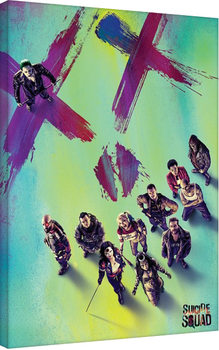 Leinwand Poster Suicide Squad - Face