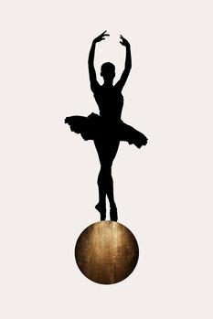 Leinwand Poster Prima Ballerina GOLD