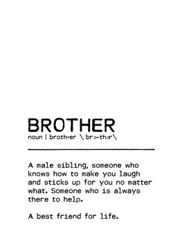 Leinwand Poster Quote Brother Best Friend
