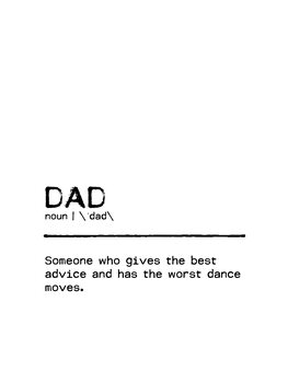 Leinwand Poster Quote Dad Worst Dance