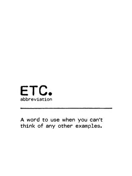 Leinwand Poster Quote ETC