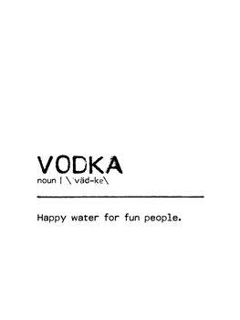 Leinwand Poster Quote Vodka Fun