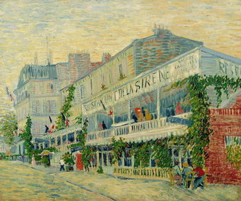 Leinwand Poster Restaurant de la Sirene at Asnieres, 1887