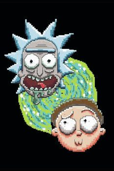 Leinwand Poster Rick and Morty - Iconic Duo