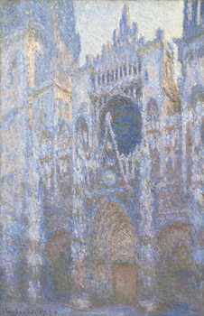 Leinwand Poster Rouen Cathedral, West facade, 1894