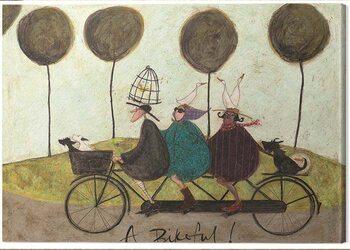 Leinwand Poster Sam Toft - A Bikeful!