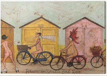 Leinwand Poster Sam Toft - Brighton Naked Bike Ride
