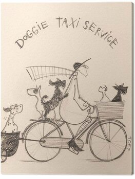 Leinwand Poster Sam Toft - Doggie Taxi Servise