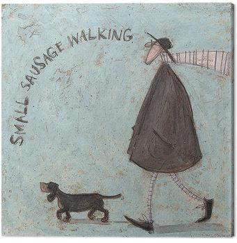 Leinwand Poster Sam Toft - Small Sausage Walking