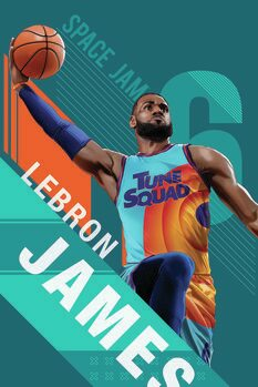 Leinwand Poster Space Jam 2 - Star LeBron