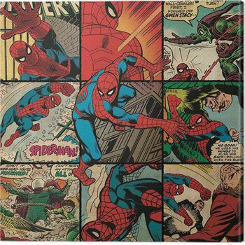 Leinwand Poster Spider-Man - Squares