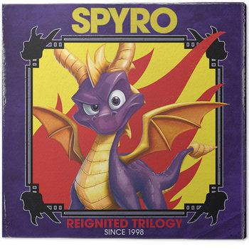 Leinwand Poster Spyro - Retro Style