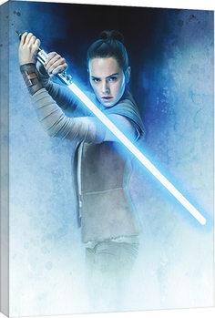 Leinwand Poster Star Wars: Die letzten Jedi- Rey Lightsaber Guard
