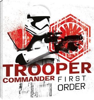 Leinwand Poster Star Wars: Die letzten Jedi- Tooper Commander First Order