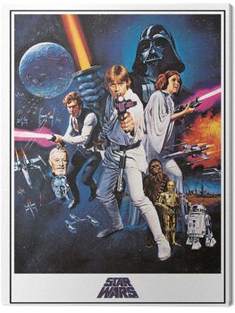 Leinwand Poster Star Wars: Episode IV - A New Hope - One Sheet