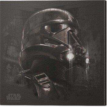 Leinwand Poster Star Wars: Rogue One - Death Trooper Black