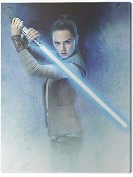 Leinwand Poster Star Wars The Last Jedi - Rey Lightsaber Guard