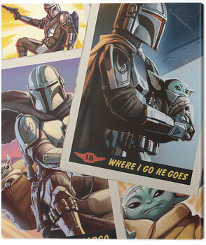 Leinwand Poster Star Wars: The Mandalorian - Cards