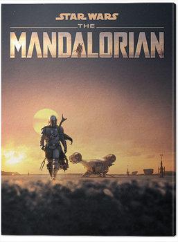 Leinwand Poster Star Wars: The Mandalorian - Dusk