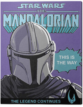 Leinwand Poster Star Wars: The Mandalorian - This Is The Way