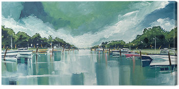 Leinwand Poster Stuart Roy - River Mornings and Angry Clouds