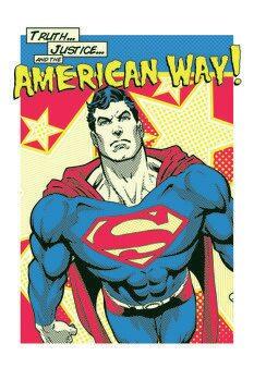 Leinwand Poster Superman - American Way
