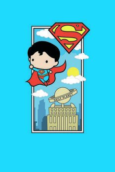 Leinwand Poster Superman - Chibi