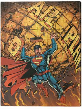 Leinwand Poster Superman - Daily Planet