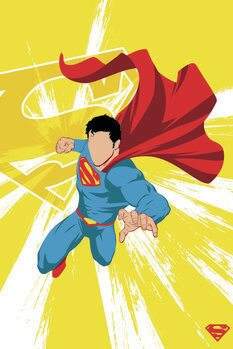 Leinwand Poster Superman - Power Yellow