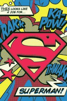 Leinwand Poster Superman's job