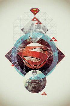 Leinwand Poster Superman - Stellar Geometry
