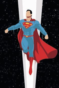 Leinwand Poster Superman - Super Charge