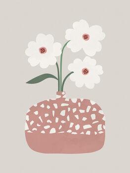 Leinwand Poster Terrazzo & Flowers