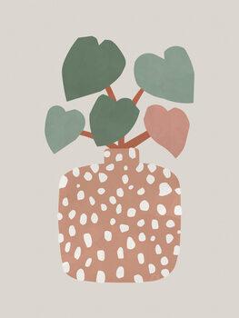 Leinwand Poster Terrazzo & Heart Plant