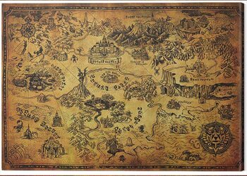 Leinwand Poster The Legend of Zelda - Hyrule Map